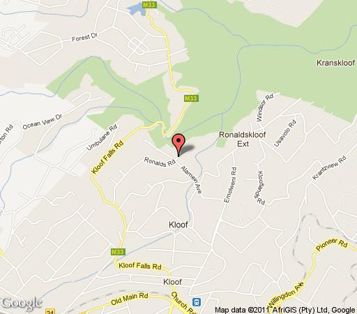 Map Eagles View B&B, Kloof in Kloof  Western Suburbs (DBN)  Durban and Surrounds  KwaZulu Natal  Afrique du Sud