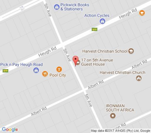 Map 17 on 5th Avenue Guest House in Walmer  Port Elizabeth  Cacadu (Sarah Baartman)  Eastern Cape  South Africa