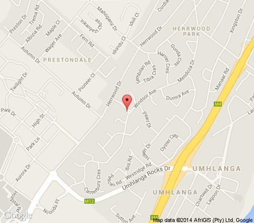 Map 8 Royal Palm B & B in Umhlanga Ridge  Umhlanga  Northern Suburbs (DBN)  Durban and Surrounds  KwaZulu Natal  Afrique du Sud