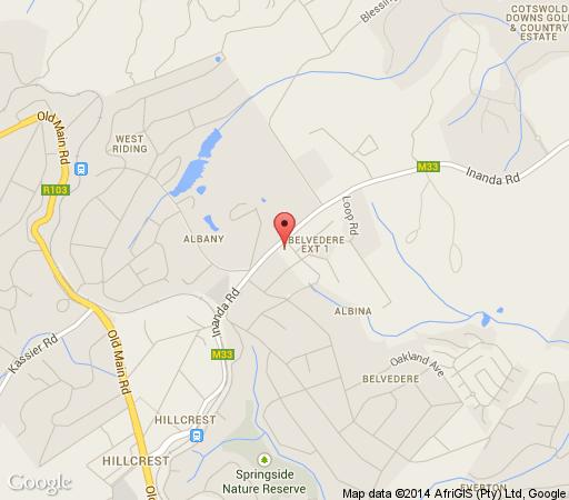 Map Valley Lodge in Hillcrest  Western Suburbs (DBN)  Durban and Surrounds  KwaZulu Natal  South Africa