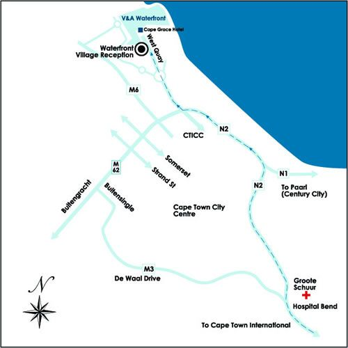 Map Waterfront Village in Waterfront  City Bowl  Cape Town  Western Cape  South Africa