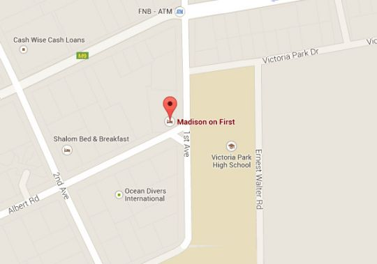 Map Madison on First in Walmer  Port Elizabeth  Cacadu (Sarah Baartman)  Eastern Cape  South Africa