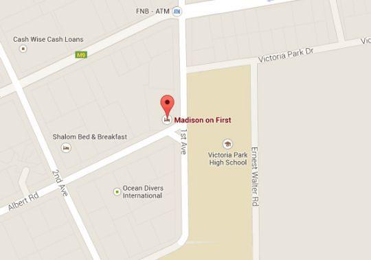 Map Madison on First in Walmer  Port Elizabeth  Cacadu (Sarah Baartman)  Eastern Cape  South Africa