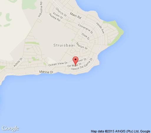 Map Agapé Stone Cottage SC / Bed in Struisbaai  Overberg  Western Cape  South Africa