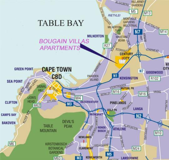 Map City Stay Apartments in Century City  Blaauwberg  Cape Town  Western Cape  South Africa