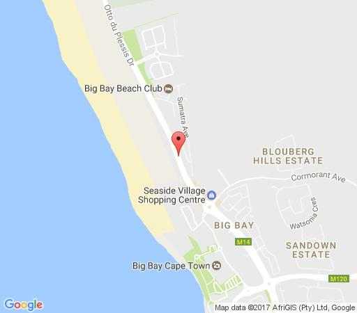 Map Bradclin Beach, Blouberg  in Bloubergstrand  Blaauwberg  Cape Town  Western Cape  South Africa