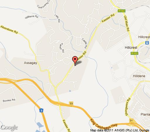 Map Chillifields B&B in Hillcrest  Western Suburbs (DBN)  Durban and Surrounds  South Africa