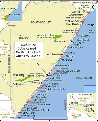 Map DolfinView in Southport  South Coast (KZN)  KwaZulu Natal  South Africa