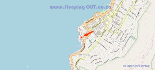 Map Enchanted B & B in Bantry Bay  Atlantic Seaboard  Cape Town  Western Cape  South Africa
