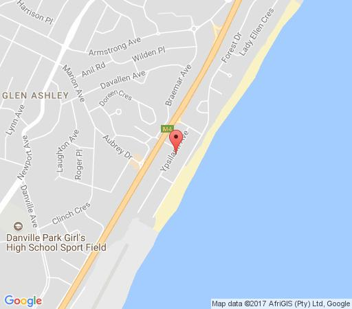 Map Beachside Self Catering Units in Durban North  Northern Suburbs (DBN)  Durban and Surrounds  KwaZulu Natal  South Africa