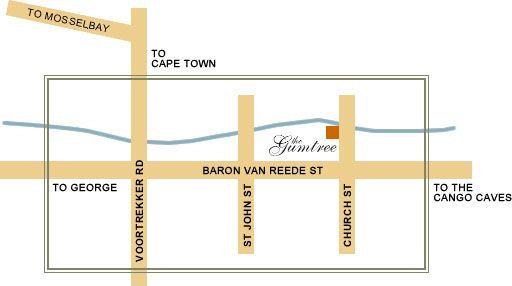 Map Gumtree Guest House in Oudtshoorn  Klein Karoo  Western Cape  South Africa
