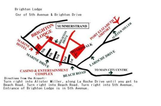 Map Brighton Lodge in Summerstrand  Port Elizabeth  Cacadu (Sarah Baartman)  Eastern Cape  South Africa