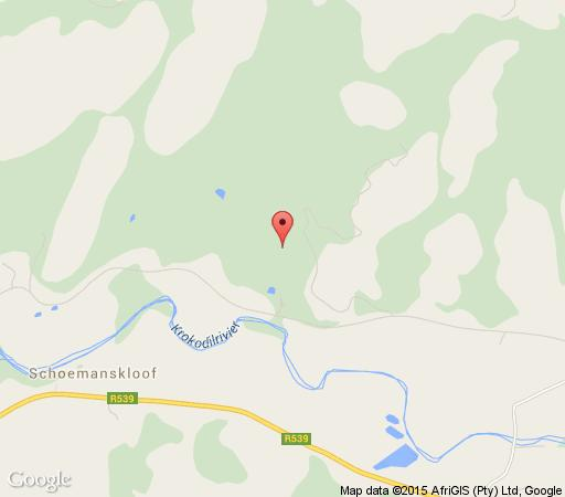 Map Kilmorna Manor Guest House  in Schoemanskloof  Highlands  Mpumalanga  South Africa