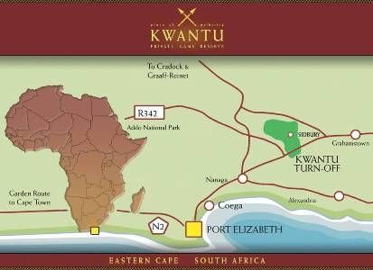 Map Kwantu Private Game Reserve in Frontier Country  Cacadu (Sarah Baartman)  Eastern Cape  South Africa