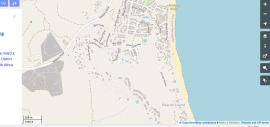 Map Umtu Bed and Breakfast in Plettenberg Bay  Garden Route  Western Cape  South Africa