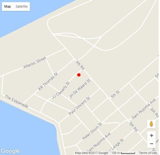 Map Langholm Hotel in Walvis Bay  Erongo  Namibia