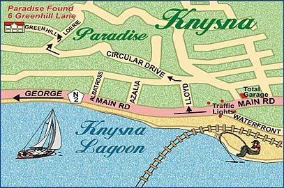 Map Paradise Found in Knysna  Garden Route  Western Cape  South Africa