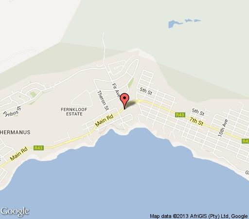 Map Four Pines Lodge in Hermanus  Overberg  Western Cape  South Africa