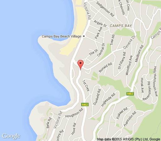 Map Primi Royal Hotel in Camps Bay  Atlantic Seaboard  Cape Town  Western Cape  South Africa