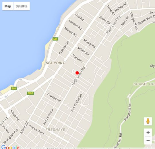 Map Leeuwenzee Guest House in Sea Point  Atlantic Seaboard  Cape Town  Western Cape  South Africa