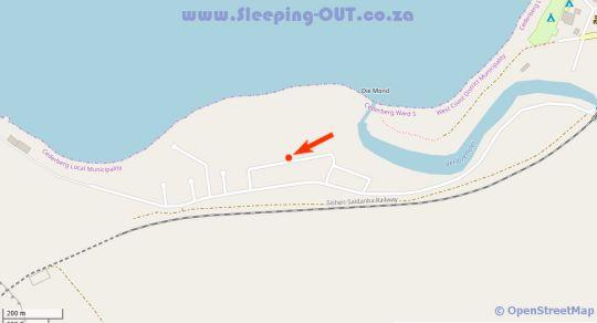 Map The Surf Shack Elands Bay in Elands Bay  West Coast (WC)  Western Cape  South Africa
