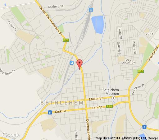 Map Inkwe Lodge in Bethlehem  Thabo Mofutsanyana  Free State  South Africa