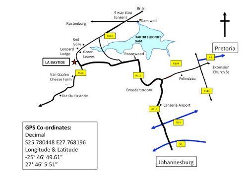 Map La Bastide in Hartbeespoort  Bojanala  North West  South Africa
