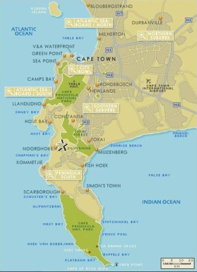 Map A Sunset Place - Noordhoek in Noordhoek  False Bay  Cape Town  Western Cape  South Africa