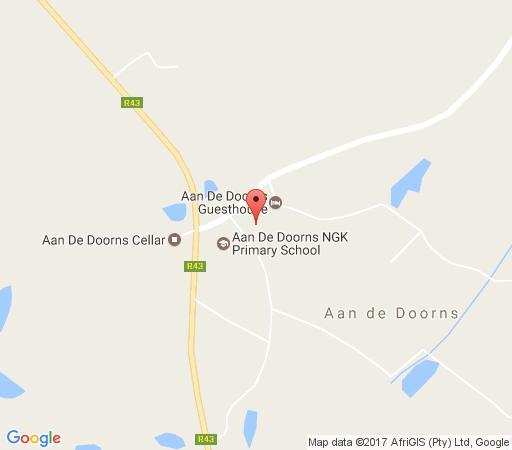 Map Aan de Doorns Guesthouse in Worcester  Breede River Valley  Western Cape  South Africa