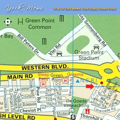 Map 14 York Mews in Green Point  Atlantic Seaboard  Cape Town  Western Cape  South Africa