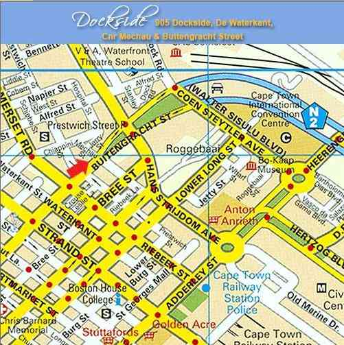 Map Dockside 905  in De Waterkant  City Bowl  Cape Town  Western Cape  South Africa