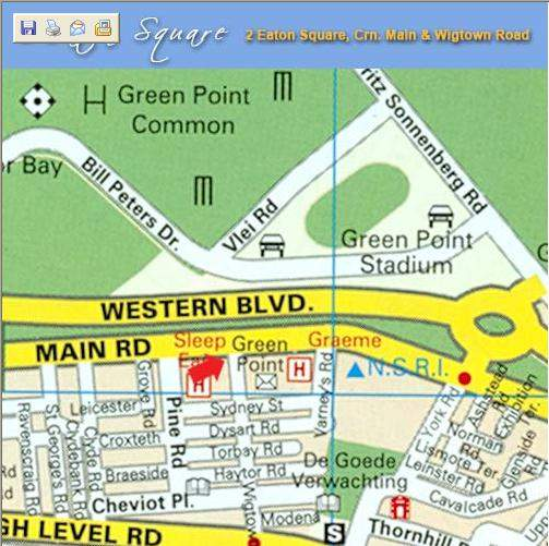 Map 2 Eaton Square in Green Point  Atlantic Seaboard  Cape Town  Western Cape  South Africa