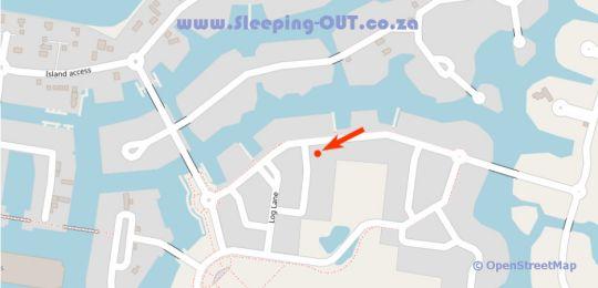 Map Ebbtide Loft - Thesen Island in Knysna  Garden Route  Western Cape  Zuid-Afrika