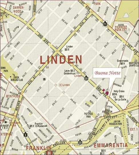 Map Buona Notte in Linden  Northcliff/Rosebank  Johannesburg  Gauteng  South Africa