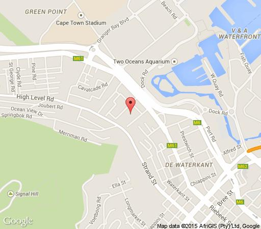 Map Hillside Heights in Green Point  Atlantic Seaboard  Cape Town  Western Cape  South Africa