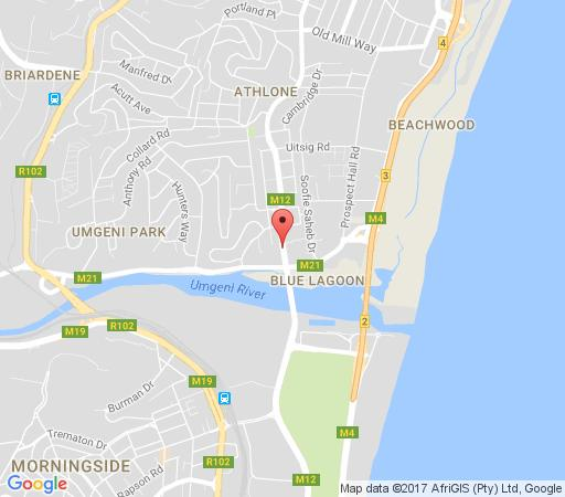 Map Honeycomb Guest House in Durban North  Northern Suburbs (DBN)  Durban and Surrounds  South Africa