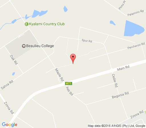 Map Pine Tree Lodge in Kyalami  Midrand  Johannesburg  Gauteng  Afrique du Sud