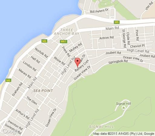 Map Huijs Haerlem in Sea Point  Atlantic Seaboard  Cape Town  Western Cape  South Africa
