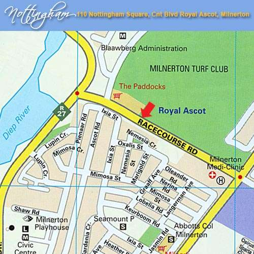Map Nottingham Square 116  in Milnerton  Blaauwberg  Cape Town  Western Cape  South Africa