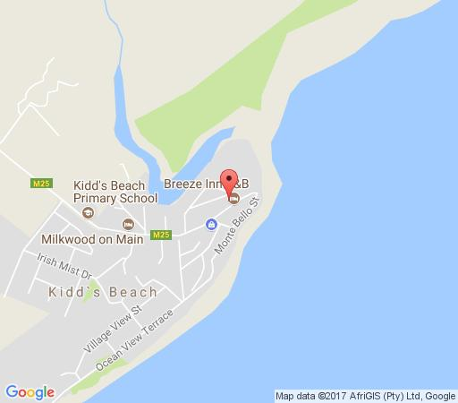 Map Breeze Inn B&B in Kidds Beach  Cacadu (Sarah Baartman)  Eastern Cape  South Africa