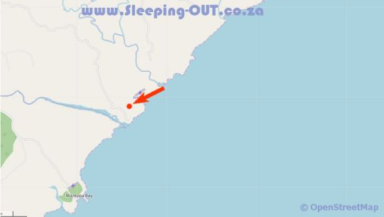 Map Dolphin View in Qora Mouth  Wild Coast  Eastern Cape  South Africa