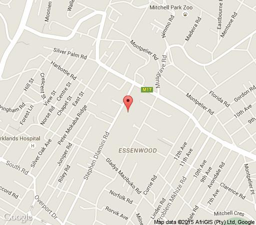 Map Essenwood House in Musgrave  Durban  Durban and Surrounds  KwaZulu Natal  South Africa