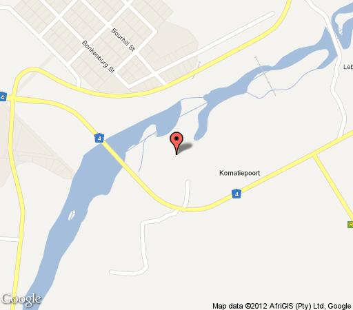 Map Orchards Farm Cottages in Komatipoort  Lowveld  Mpumalanga  South Africa