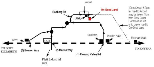 Map Goodland Country House in Plettenberg Bay  Garden Route  Western Cape  South Africa