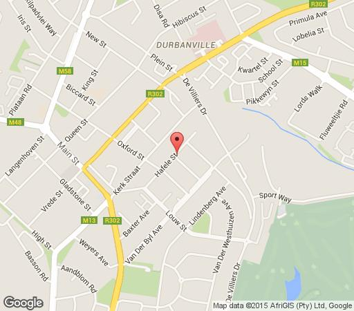 Map Jabulani Guest House in Durbanville  Northern Suburbs (CPT)  Cape Town  Western Cape  South Africa