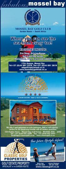 Map Mossel Bay Golf Lodge in Mossel Bay  Garden Route  Western Cape  South Africa