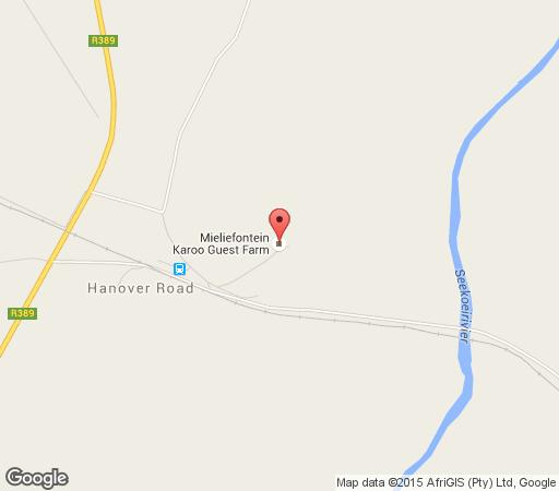 Map Mieliefontein Karoo Guestfarm in Hanover  Upper Karoo  Northern Cape  South Africa