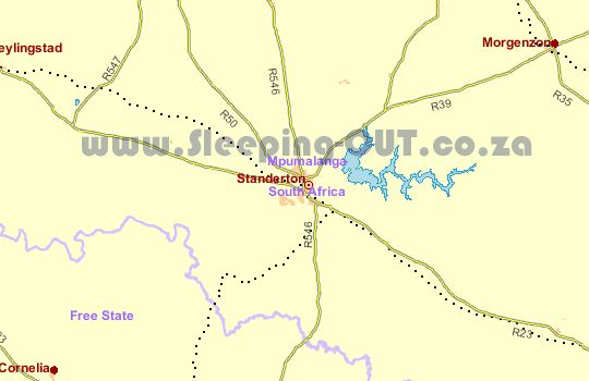 Map Custodian Court Guest House in Standerton  Cosmos Country  Mpumalanga  Zuid-Afrika