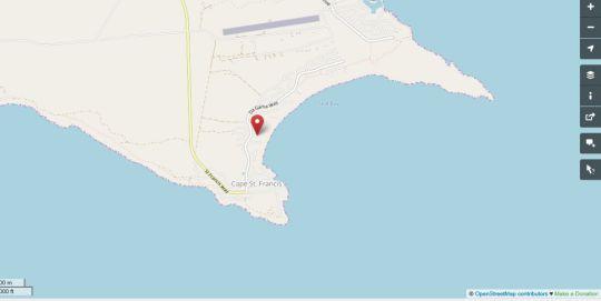 Map Sandown B & B and S/C in Cape St. Francis  Cacadu (Sarah Baartman)  Eastern Cape  South Africa