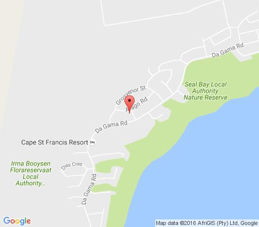 Map Anchorage in Cape St. Francis  Cacadu (Sarah Baartman)  Eastern Cape  South Africa